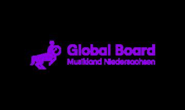 Musikland Global Board Logo Flieder