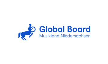 Musikland Global Board Logo Marineblau